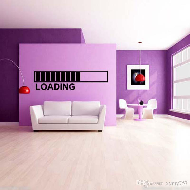 computer game wall sticker loading games large decal funny phone