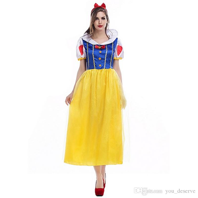 2017 new arrival luxury snow white dresses for women sexy cosplay halloween theme party costumes game clothing hot selling halloween themes for the office - 2017 Halloween Themes