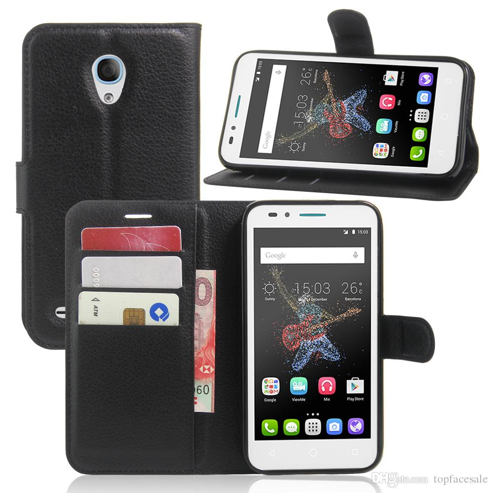 save off 52bd6 814d4 Diforate New Arrival Luxury High Quality Leather Wallet Phone Flip Cover  For Alcatel GO Play OT7048X Phone Pouch Case