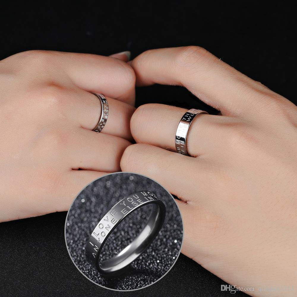 2018 Bride Groom Couples Rings Simple Charm Jewelry Promise Ring