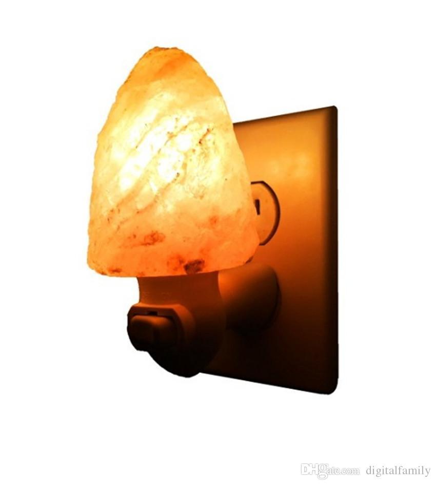 Hot sale Himalayan crystal salt lamp table lamp light bedroom adornment night light the head of bed Natural Himalayan crystal Salt Light