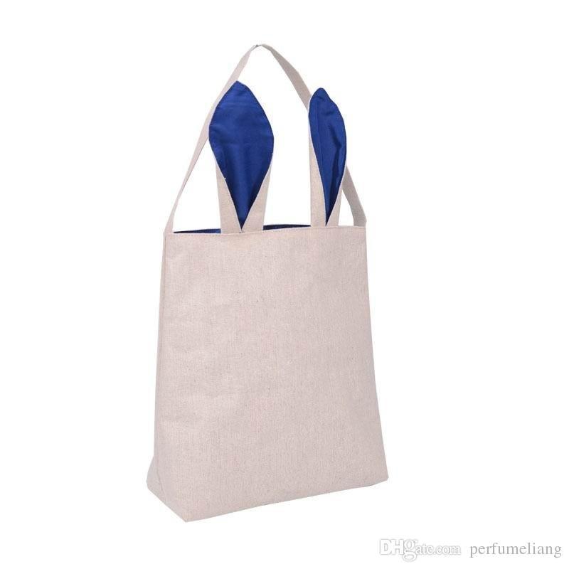 Новая мода Пасхальный Кролик уши мешок джут ткань Материал подарочные пакеты Пасха детская сумка для конфет Пасха сумка для ребенка прекрасный фестиваль подарок
