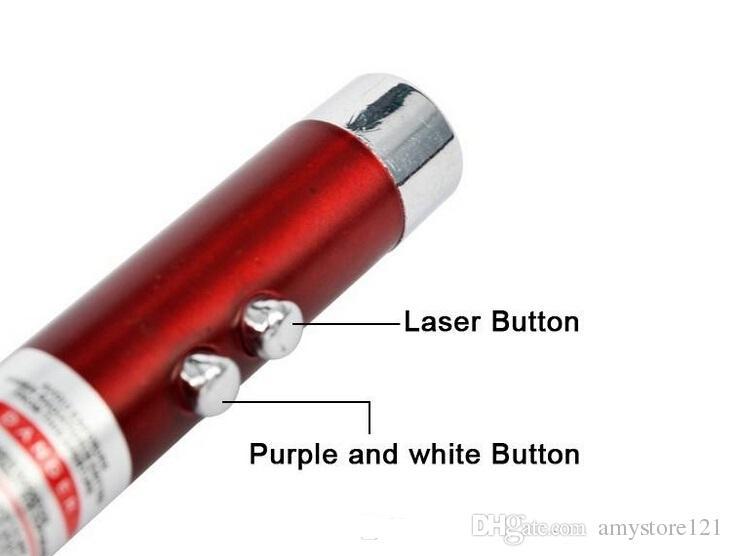 Alta calidad Mini linterna 3 in1 luz LED Lápiz láser Flash Luz Llavero de emergencia Linterna - venta al por mayor