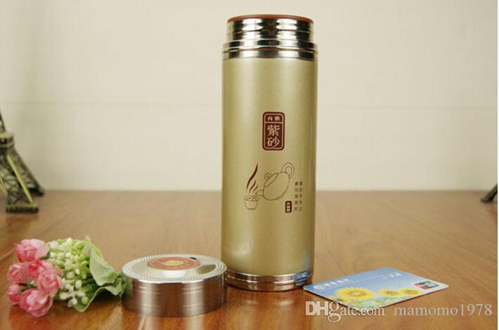커버 건강 수동 휴대용 컵 400ml A1316와 핫 판매 골드 컬러 보라색 점토 사무실 차 컵