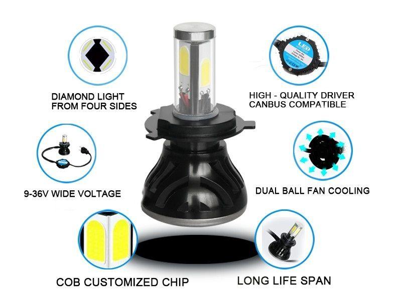 80W 8000LM G5 Car LED Headlight H7 6000K 360 Degree COB LED Headlamp Light Bulbs Kit 40W/piece
