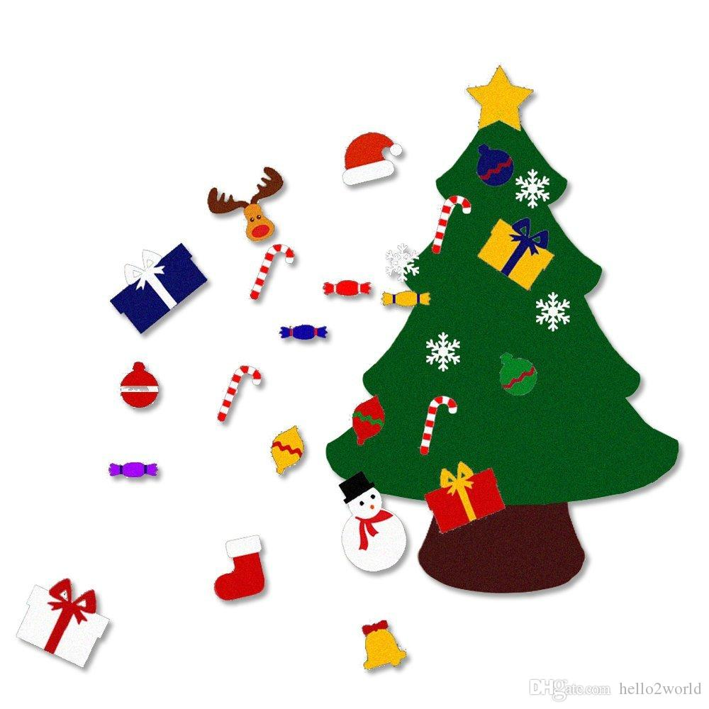 2018 New Year Kids Gifts Diy Christmas Tree Decorations For YearS Door Wall Hanging Decoration 15 Pcs Dhl Freeshippi Holiday Ornaments