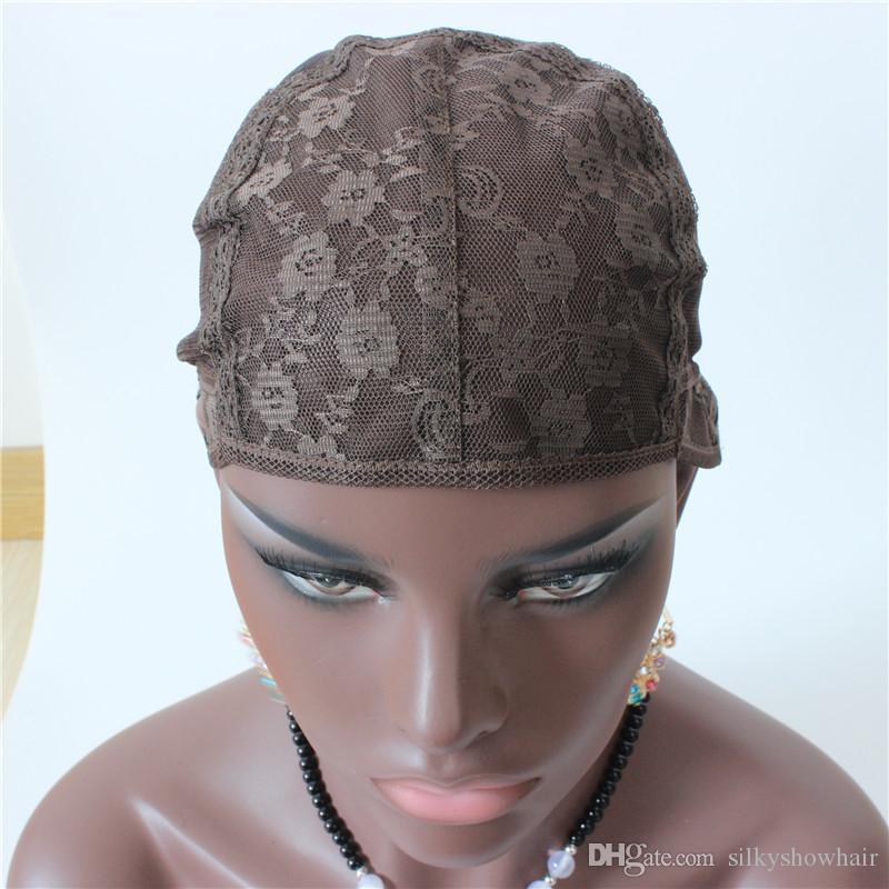 Brown Cheap Jewish Base Wig Caps High Quality Mesh Weaving Black Wig Hair Net Making Caps, Weaving Wig Cap & Hairnets