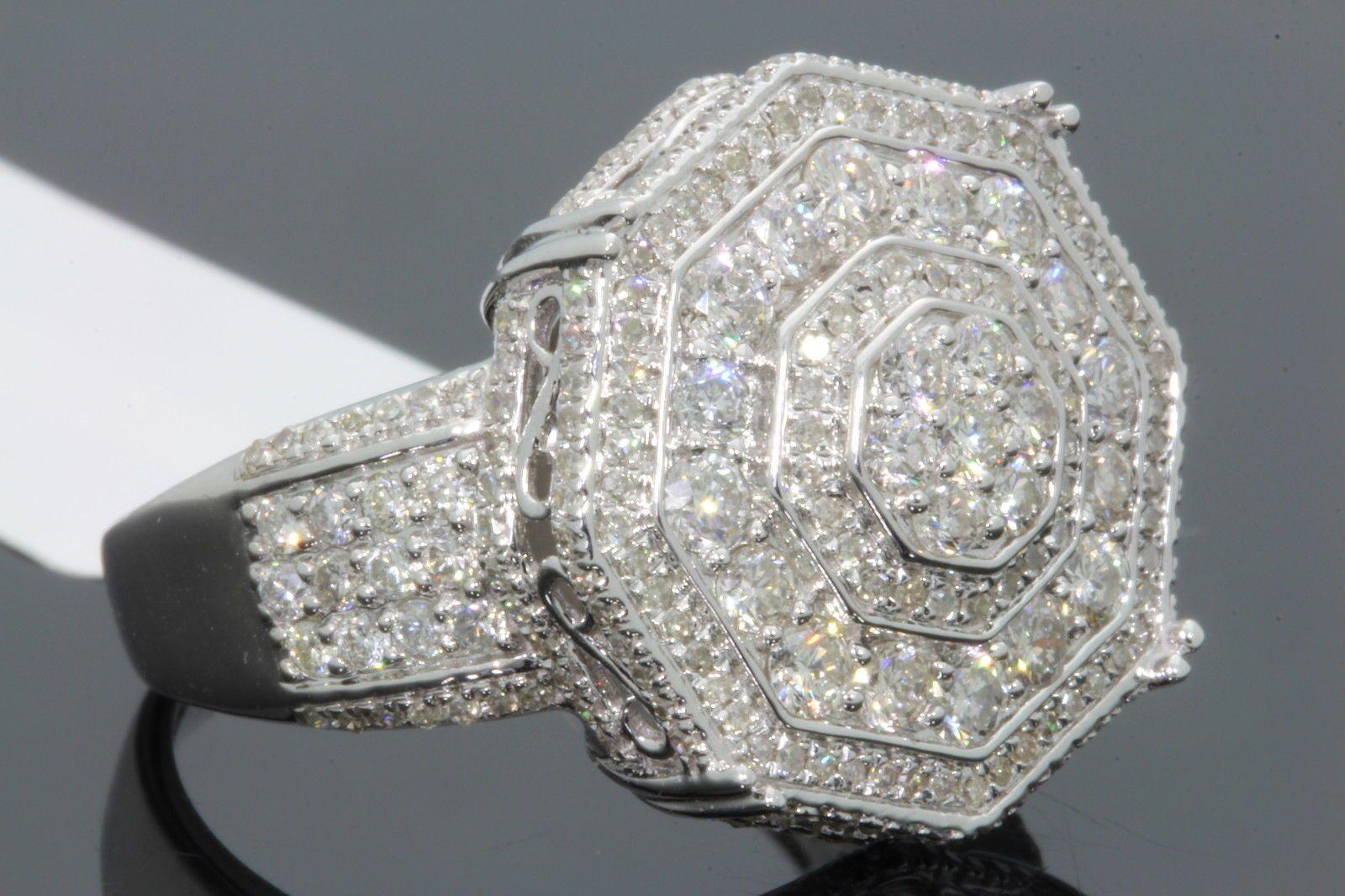 see larger image - Real Diamond Wedding Rings