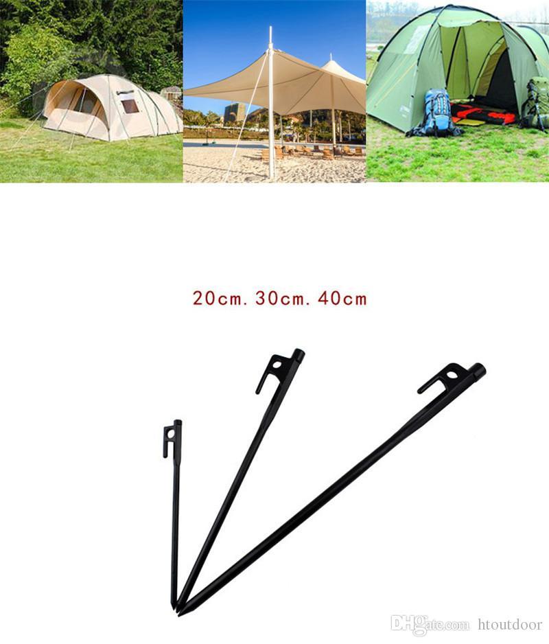 20 см 30 см 40 см черная сталь ковка колышки открытый кемпинг палатки ногтей колышек Пляж песок снег холодная зима ногтей инструмент