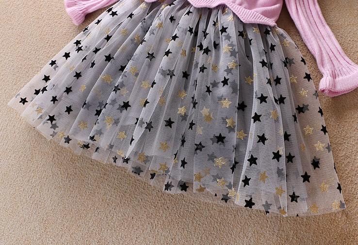 Bébé filles pull en cachemire jupes enfants hiver chaud mode étoiles robe enfants boutiques de filles vêtements de qualité supérieure