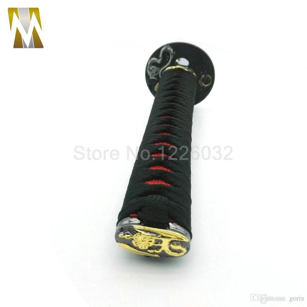 265mm Black + Red JDM Samurai Sword Shift Knob Shifter Katana Metallgewichtete Sport mit Adapter