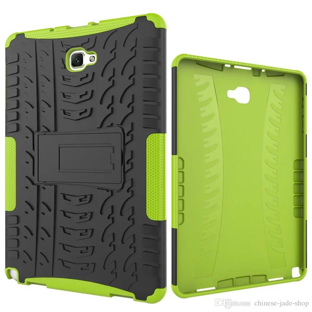 Hybrid Kickstand Impact Robust Heavy Duty TPU + PC Cover Case för Samsung Galaxy Tab A 10.1 P580 P585 TAB S4 10.5 T830 T835