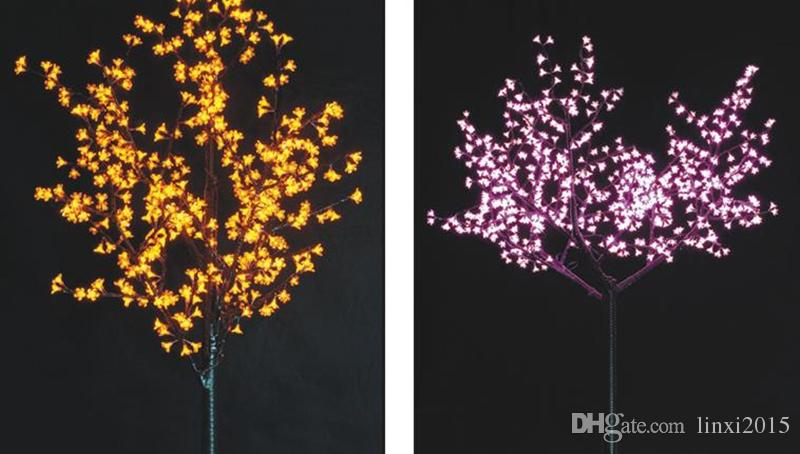 1.5m/5ft Height Outdoor Artificial Christmas Tree LED Cherry Blossom Tree Light LEDs Straight Tree Trunk LED Light Tree