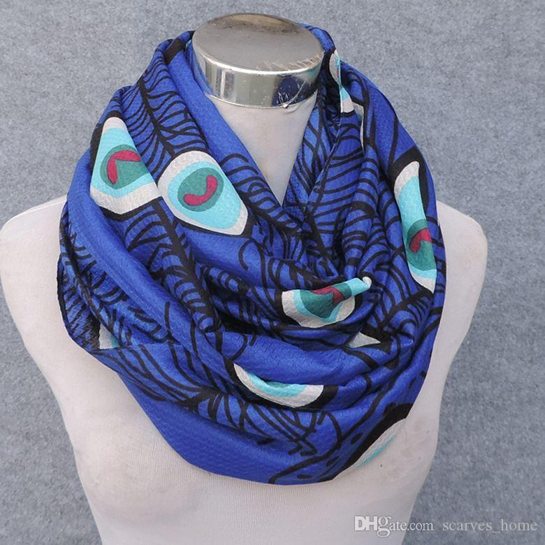 New Meterial High Quality Viscose Scarf Peacock Feather Print Women's Infinity Scarf Large Size Scarves Fish bone pattern Scarfs