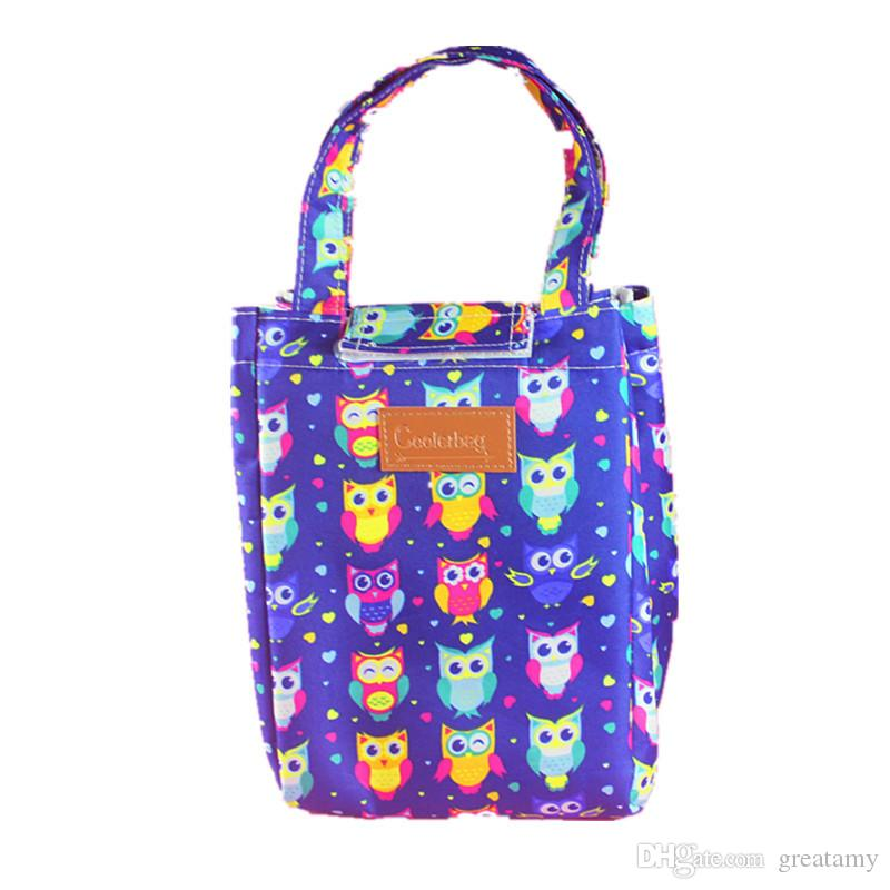 Wholesale New Lunch Bags Pouch Storage Box owl rabbit Insulated heat Thermal Cooler Bag Picnic Tote Bolsa Termica Lancheira children handbag