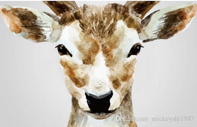 Sika Deer Wallpapers Decalque Da Parede Quarto Sala de estar Decoração de Casa Adesivo de Parede Livro de Entrada Casa Decoração de Casa Adesivos de Parede de Natal