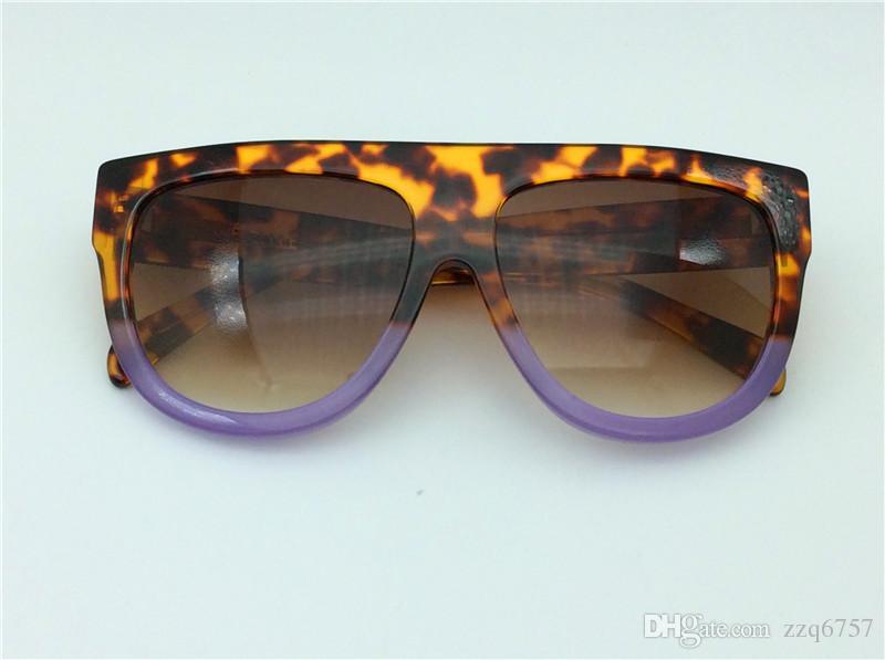 le donne nuova annata di occhiali da sole di moda Audrey CE41026 sunglass progettare tendone telaio lembo Occhiali da sole oversize leopardo