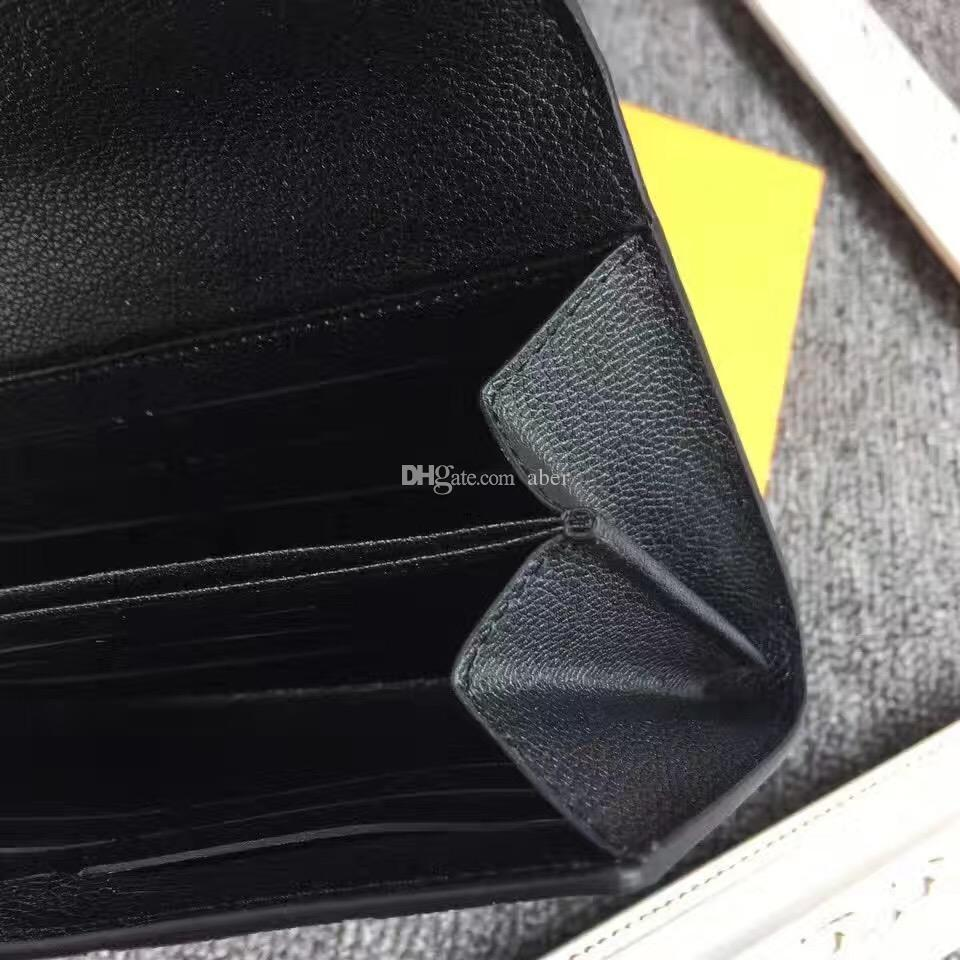 Popular Customization New Pont neuf wallet genuine leather women long wallets clutch credit card pink wallet purse Black M61831 bags
