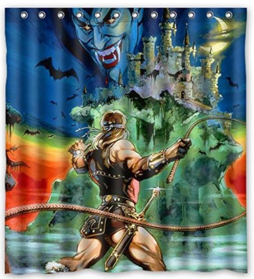 2019 Castlevania Design Shower Curtain Size 165x180 Cm Custom Waterproof Polyester Fabric Bath Curtains From Littemanthree 2513