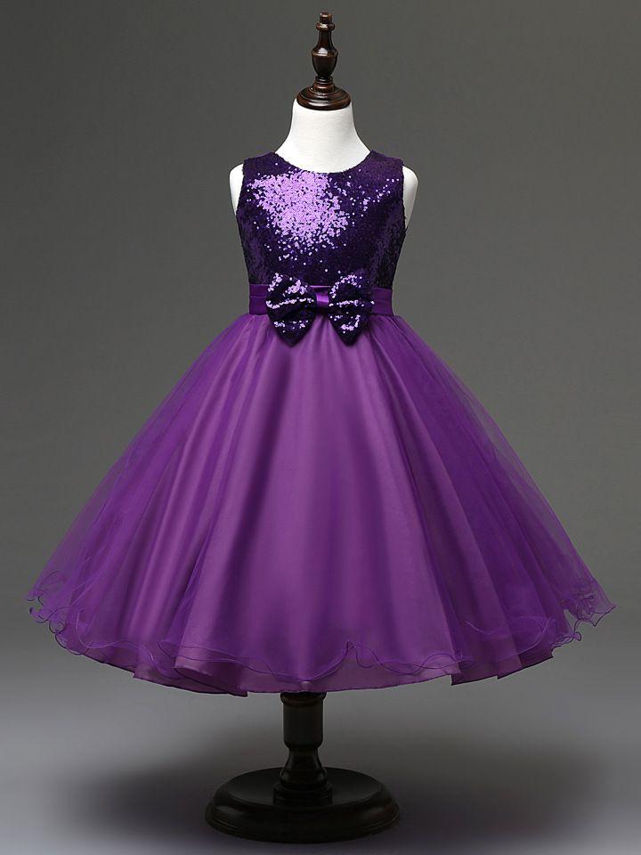 Compre Espumoso Púrpura, Azul Real, Con Lentejuelas Rojas Vestidos ...