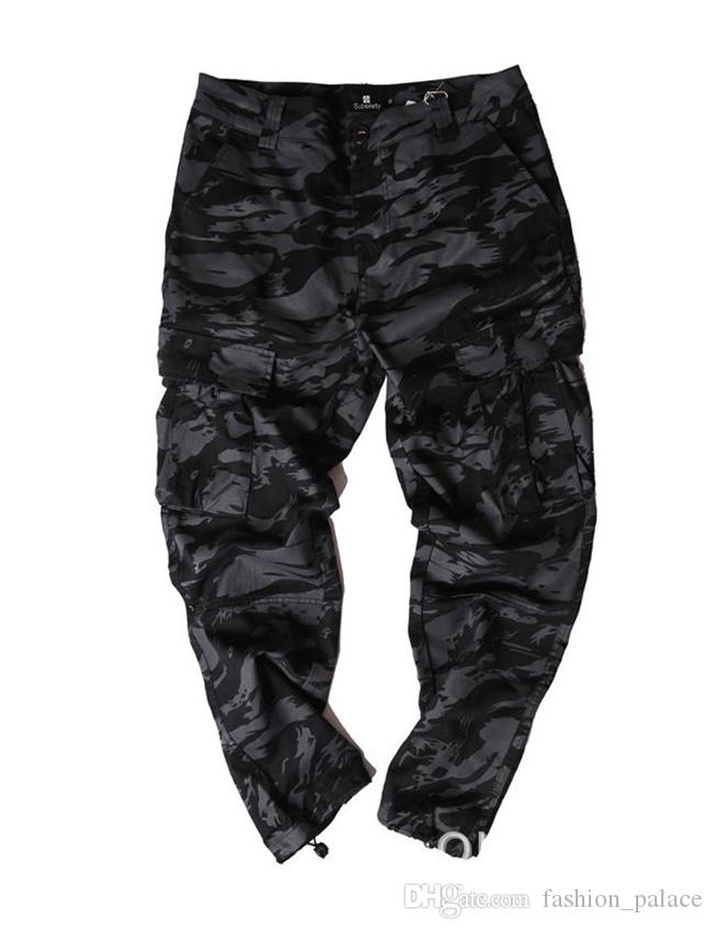Men Camouflage Jogger Pants High Quality Outdoor Cargo Pants Kanye West Street Bottoms Cool Skatebaord Trousers OSG0805