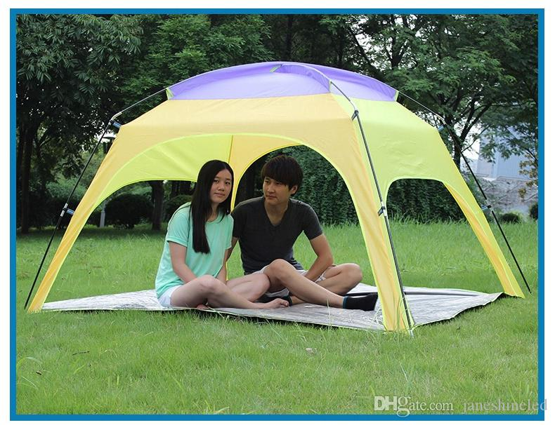 Outdoor 3 4 People Beach Tent C&ing Tent With Bottom Sunscreen Rainproof Canopy 4 Person Tent Trailer Tent From Janeshineled $57.24| Dhgate.Com & Outdoor 3 4 People Beach Tent Camping Tent With Bottom Sunscreen ...