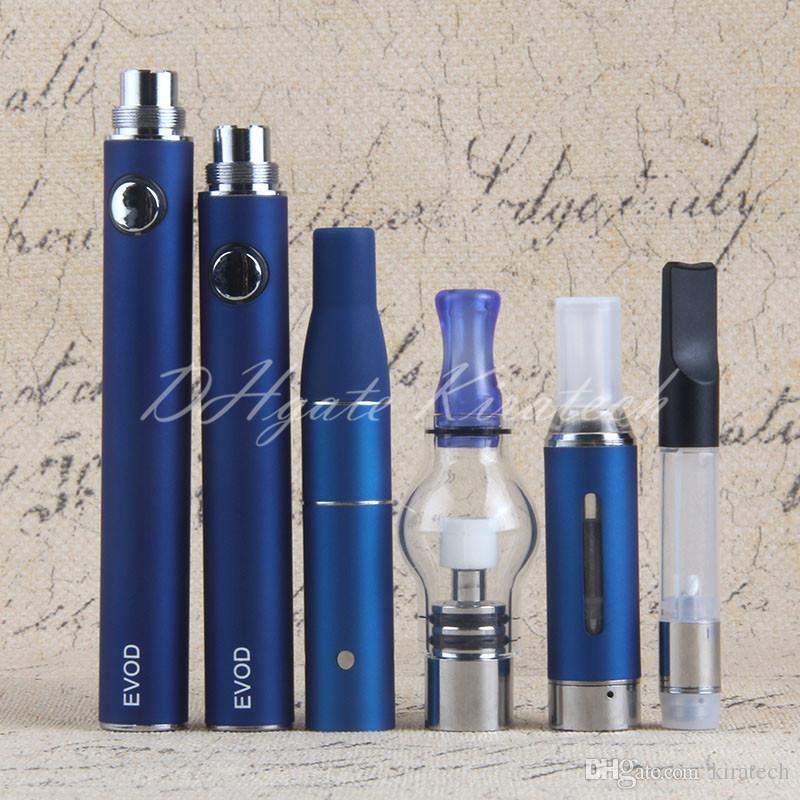 4 in 1 Vaporizer Kit Globe Glass Wax Vape Pen Ago Dry Herb Evod Vaporizers CE3 Oil Tank Cartirdge MT3 Eliquid Atomizers Vapes
