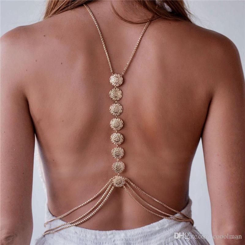 Hot Charme Tassel Cadeia Corpo Carving Flor Crossover Sexy Bikini Beach Harness Colar Étnica Cinto Boho Corpo Jóias de Casamento