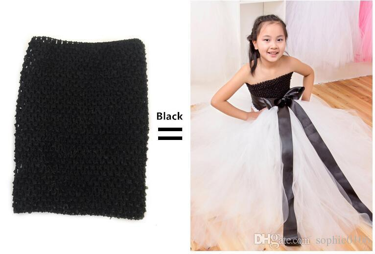 9 inç Bebek Kız Tığ Tutu Tüp Göğüs Wrap Geniş Tığ headbands Tops Şeker renk giysileri 23 cm X 20 cm