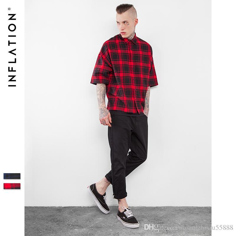 Acquista New Arrivels Flanella Camicie Uomo Hip Hop Oversized Mens Camicie  Hiphop Streetwear Mens Camicie A  52.87 Dal Houqizhixiu55888  30da06ea3d02