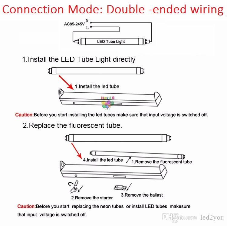 T8 28W 2500 Lümen Yüksek Parlak ışık Tüpler AC 110-240V etsuyuna led tüp Çift satır 4ft