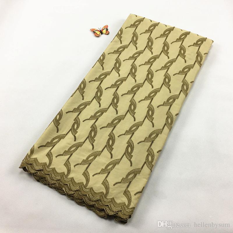 Ventes chaudes Africaine Polonaise Coton Voile dentelle, 2055 Livraison Gratuite 5 yards / pack, 100% coton Africaine De Mariage Partie Hommes Dentelle Vêtements