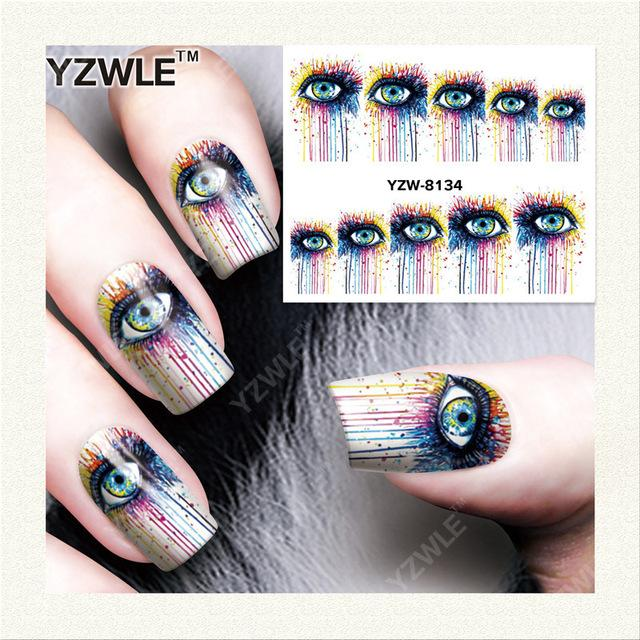 Wholesale- YZWLE 1 Sheet DIY Nails Art Decals Water Transfer ...
