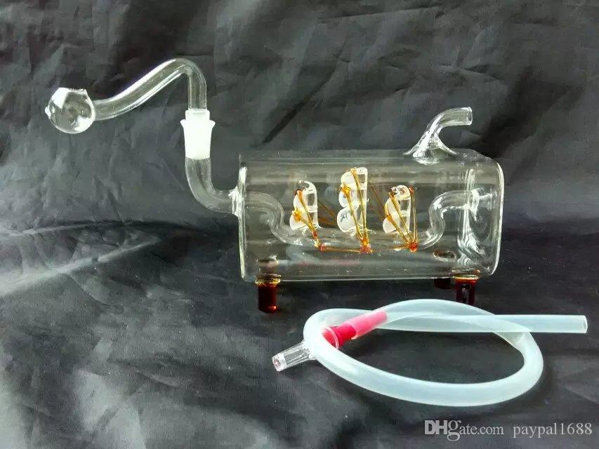 Tubi flessibili barche a vela Tubi bong in vetro, Tubi di vetro colorati mini multi-colori Tubi mani Best Spoon glas