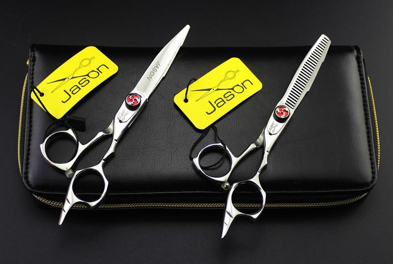 5.5Inch Jason New JP440C taglio forbici assottigliamento Set parrucchiere forbici salone barbiere capelli cesoie acciaio kit, LZS0453