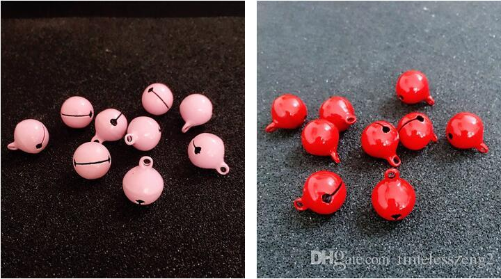 Sinos de natal diâmetro 1.5 cm maçante polonês dupla cor brilhante laca pequenos sinos jóias dos desenhos animados DIY sinos acessórios
