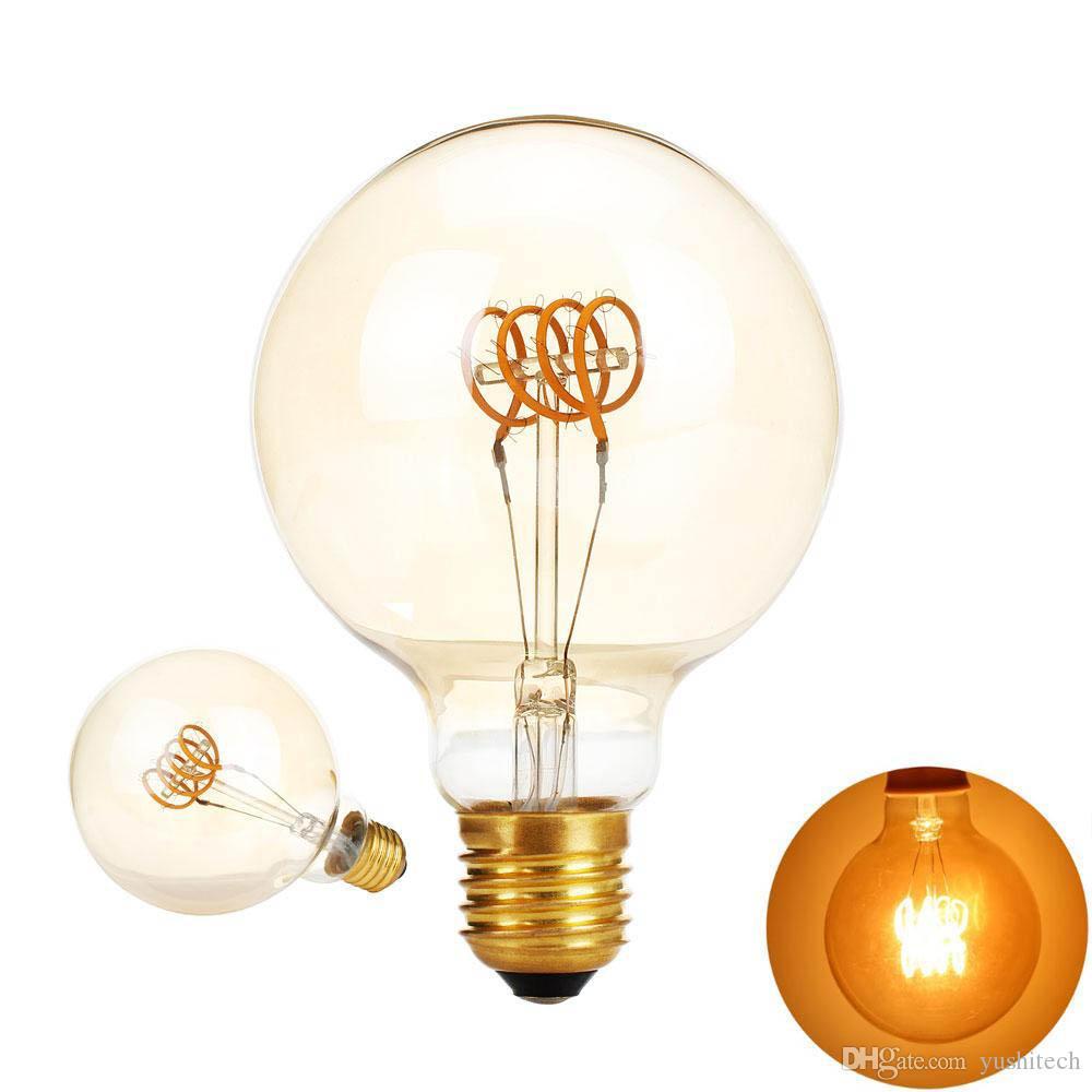G95 Économiser 110 Edison Led V Lumière 220 Spirale Ampoule W Filament 4 Amber Golden Vintage Dimmable Lampe Ampul Retro E27 Ac T3Fulc5K1J