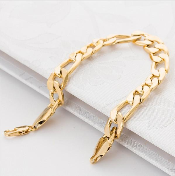 jewelry bangles real bracelet for women plated fashion rose thick gold men bracelets platinum foxtail