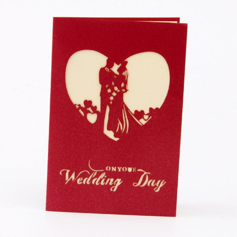 Folded wedding invitations cards bride day with envelope greeting 3d folded wedding invitations cards bride day with envelope greeting 3d hollow red color printed paper love shape card decoration invitation business birthday m4hsunfo