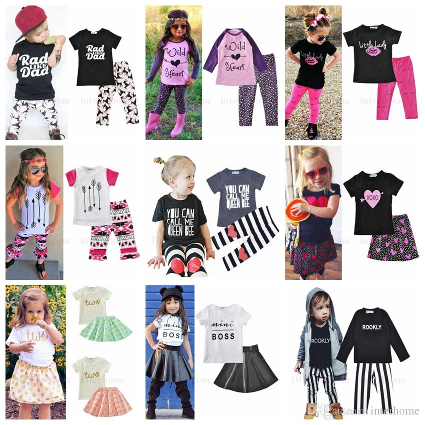 509e4911c 2019 Kids Clothing Baby Suits Children Fashion Arrow Letter Printed ...