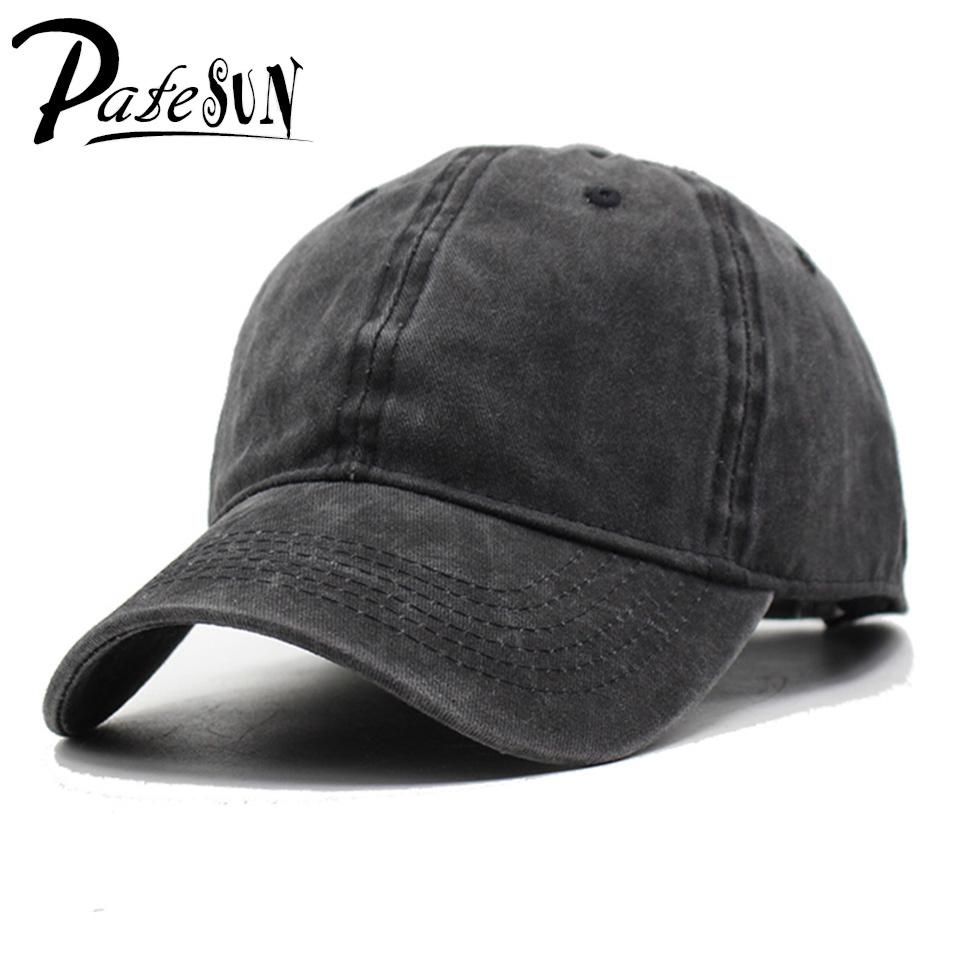 Wholesale PATESUN Summer Baseball Caps Men 2017 Washed Caps Brand Dad Hats  Women Solid Color Hat Summer Hats Gorra De Beisbol Black Hat Baseball Hat  Hat ... 223b2b08843