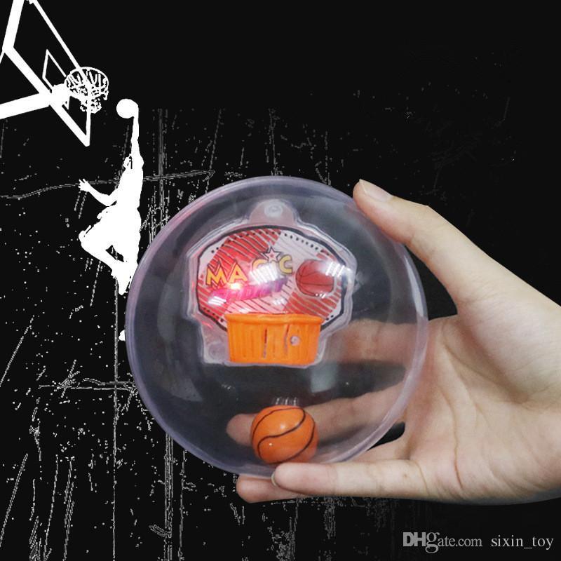 Magia esportes handheld jogo de basquete com luzes LED música engraçado máquina eletrônica palm player novidade fidget spinner brinquedos navio livre