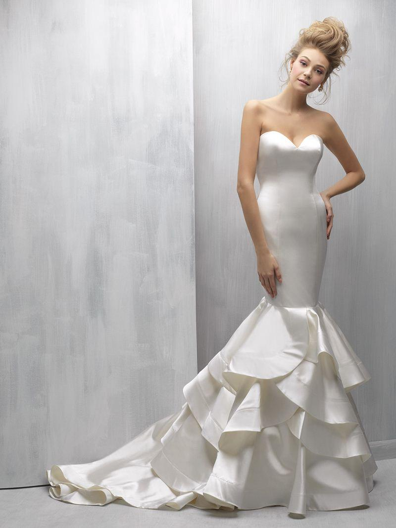 Haute Couture Sculpted Charmeuse Satin Mermaid Wedding Dress ...