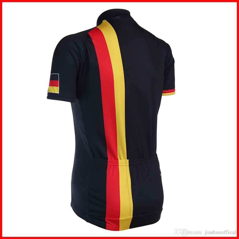NOVO Personalizado 2017 Alemanha Deutschland mtb estrada RACE Equipe Ciclismo Jersey Conjuntos de Calções Bermudas Roupas Respirável JIASHUO Ropa CICLISMO