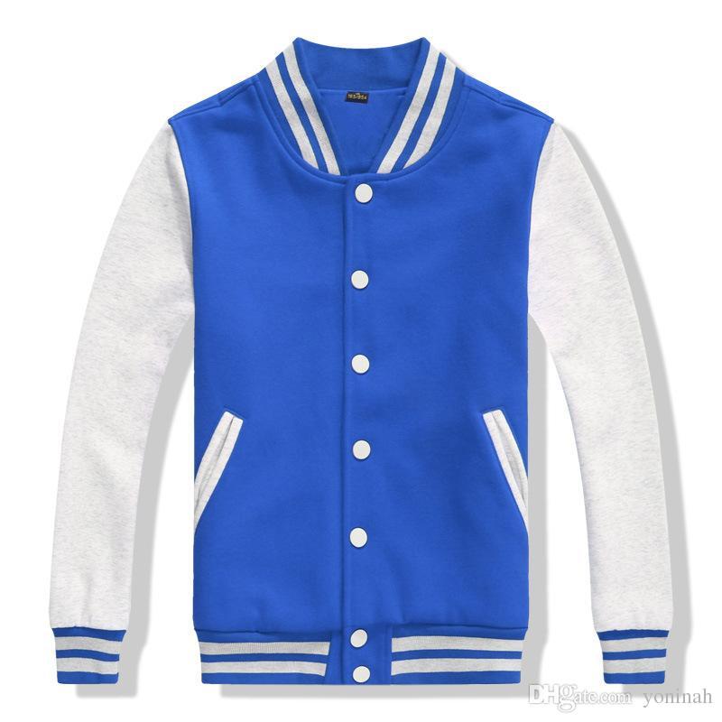 Trasporto libero all'ingrosso Uomini Classic Vintage Sport Baseball Uniform Mens College Varsity Basket Felpa Jacket Spor