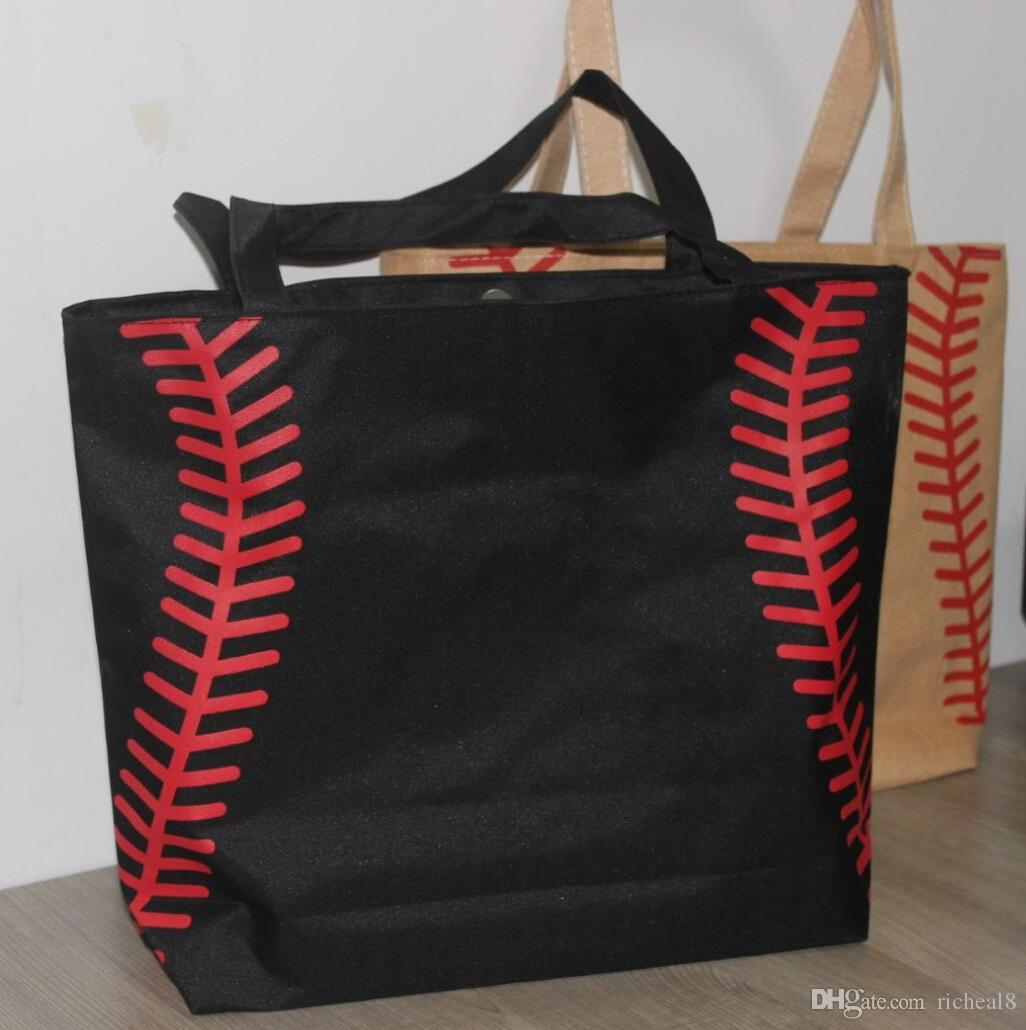 2017 2017 New Small Canvas Bag Baseball Tote Bags Sports Bags ...
