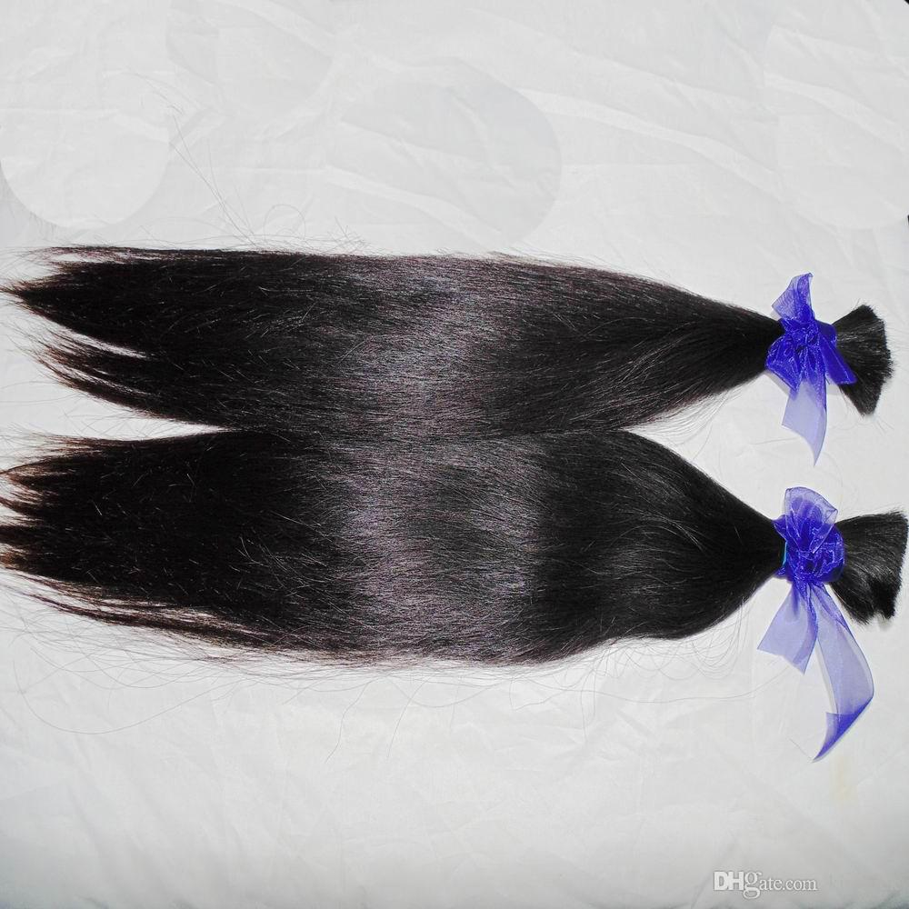 Wholesale BUlk Straight Brazilian Virgin Human Hair braiding 10pcs Thick Bundles Natural Color Uhprocessed