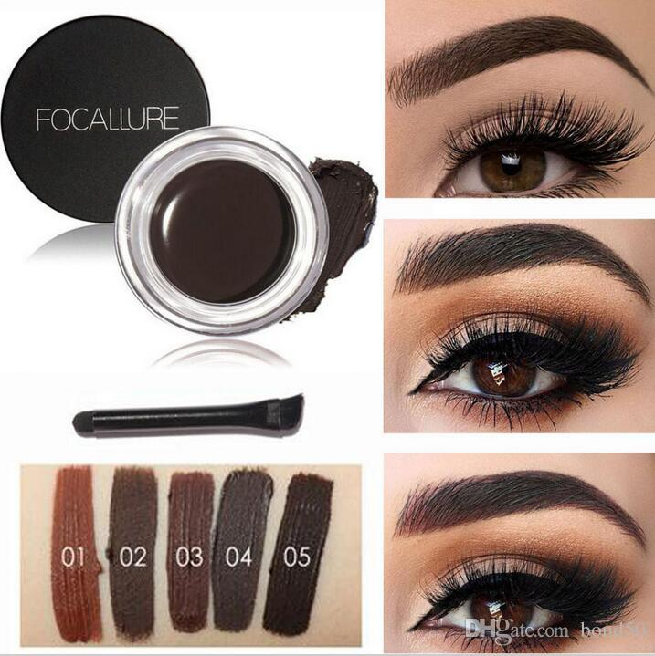 FOCALLURE Brand 5 Colors Eyebrow Gel Durable Eyebrow Pomade Gel Waterproof  Maquiagem Makeup Accessories Eyebrow Pomade Gel FA23