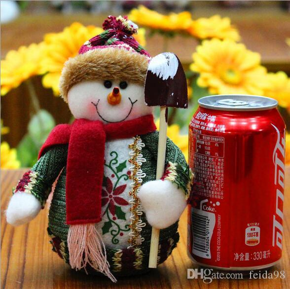 2017 Hot Sale Santa Claus Snow Man Reindeer Doll Christmas Decoration Xmas Tree Hanging Ornaments Pendant Kids Best Gift G754