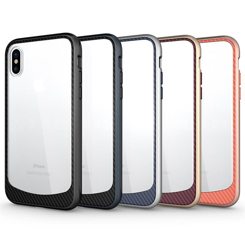 pretty nice a8597 b2259 For Iphone XS Case Clear Hybrid Soft TPU Hard PC Bumper Back Cover For  Samsung iphone x 8 8plus